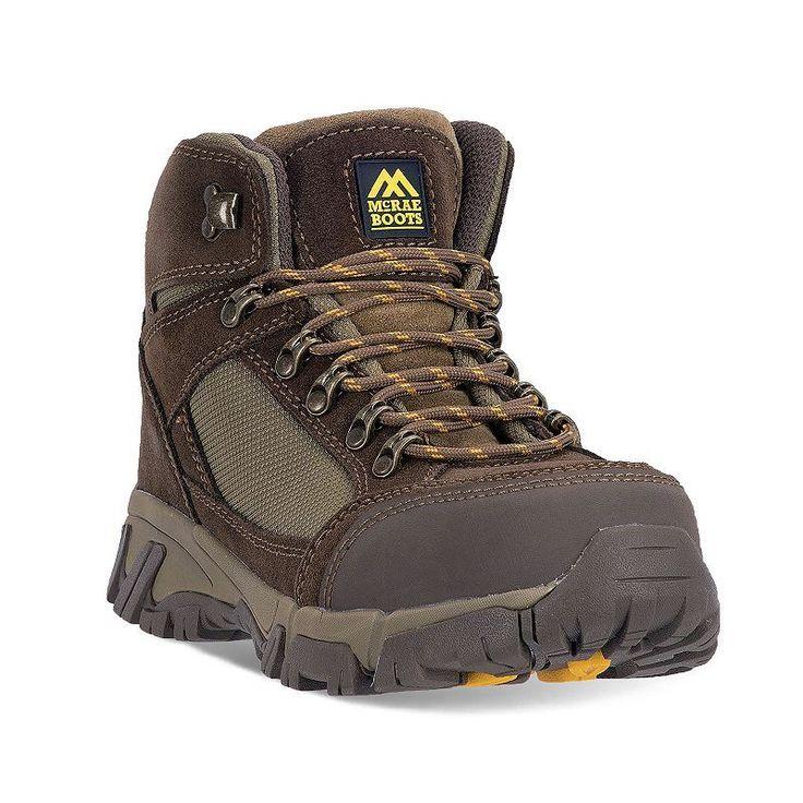 McRae Industrial Men's Steel-Toe Hiking Boots, Size: medium (11.5), Brown