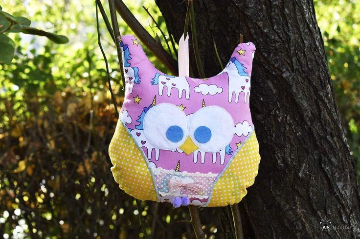Handmade owl stuffed pillow #sewing