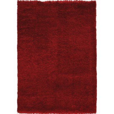 "Latitude Run Barry Luxurious Red Area Rug Rug Size: 5'3"" x 7'7"""