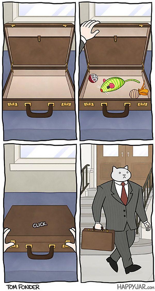 Un día en la vida del gato ejecutivo
