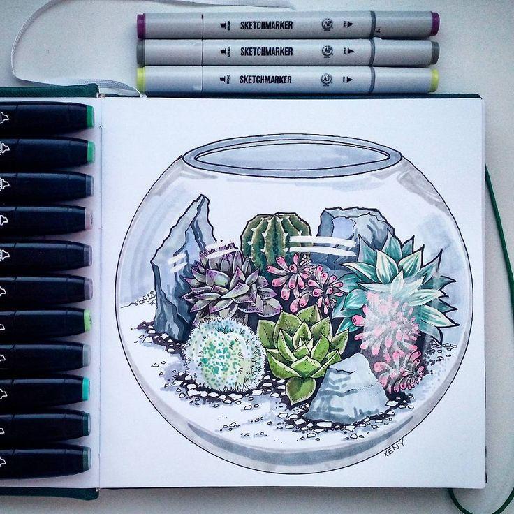 Маленький мир Тема 2/8 #скетчмарафон_аромат_весны цветы в горшочках #ilovesketchmarker #sketchmarkersclub #дизайн #скетч #скетчбук #графика #линер #рисунок #рисуюкаждыйдень #маркеры #design #art #grafic #grafica #artstudy #sketch #liner #promarker #copic #touch #учеба #курс #justdosketch #кактус #суккуленты