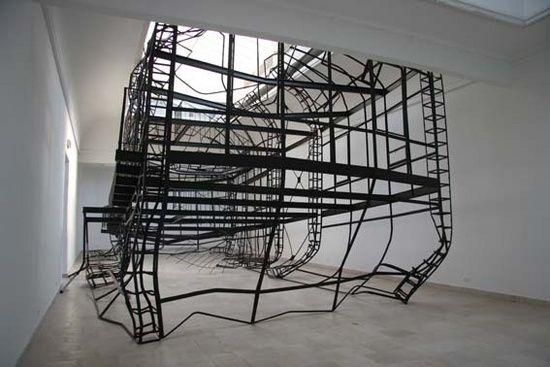 Monika Sosnowska, 1:1, Venice Biennale 2007, Polish Pavillion