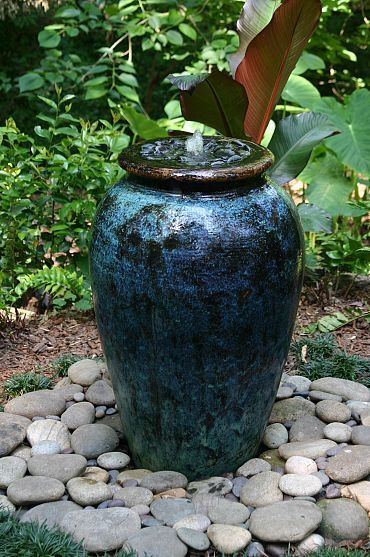 Simple way to make an inground water feature.