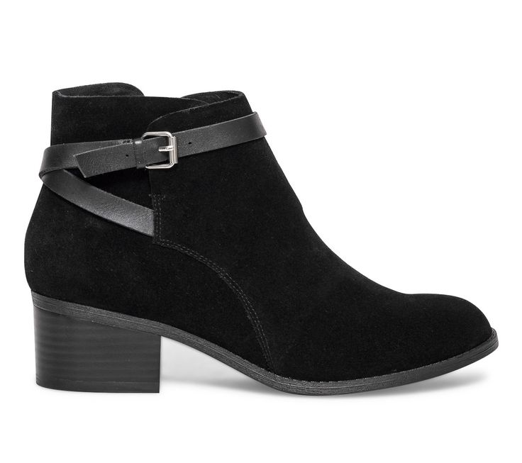 Boots bride croûte de cuir noir