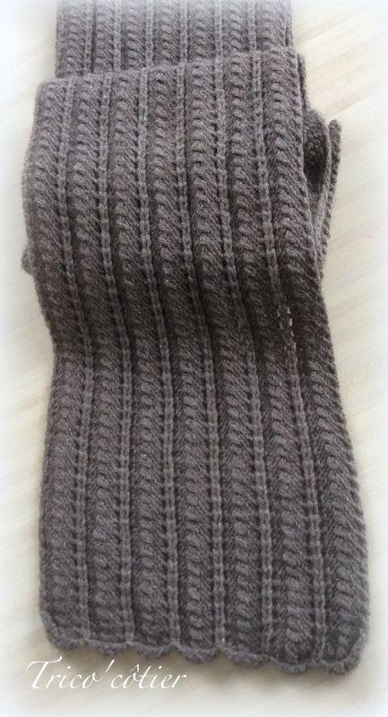 Les 25 meilleures id es de la cat gorie echarpe tricot sur - Quel point pour tricoter une echarpe ...