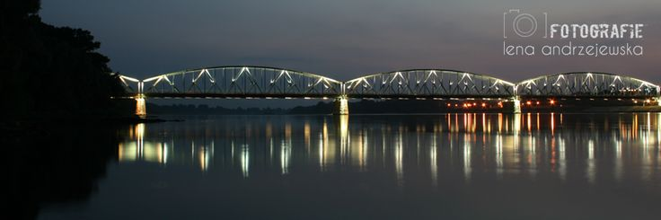 Toruń, Poland, Nicolaus Copernicus, bridge, landscape, lights