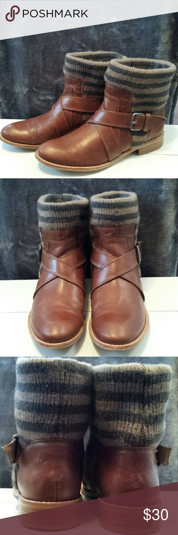 Splendid ankle boots Tan leather with straps Splendid Shoes Ankle Boots & Booties
