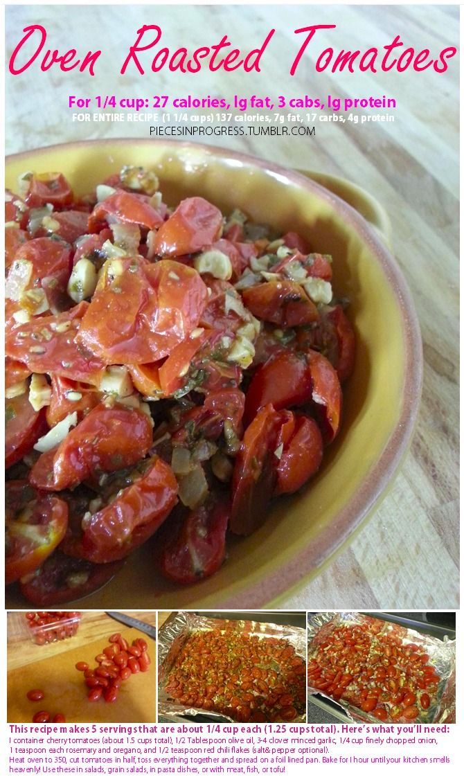 Oven Roasted Tomatoes | Healthy Noms | Pinterest