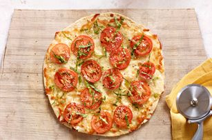 Tortilla Pizza Margherita recipe - so easy and perfect light lunch. But you won't want to share so make two!