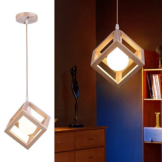 Mingdaxin Woodiness Pendant Light Contemporary Diy Hanging Lamp Hangs Illume Adjust Suspension Height Ceiling Light A Ceiling Lights Wooden Light Hanging Lamp