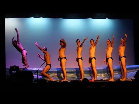 5th grade boys Synchronized Air Swimming Talent Show Skit W A Porter Elementary - YouTube