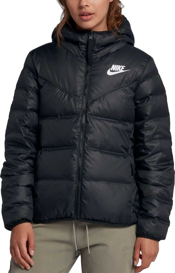 Geometría Pickering Accesible  Nike Women's Sportswear Windrunner Reversible Down Fill Jacket, Size:  Small, Black | Ropa tumblr, Ropa de moda, Ropa