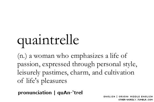 Word of the day, the month, or even the year....