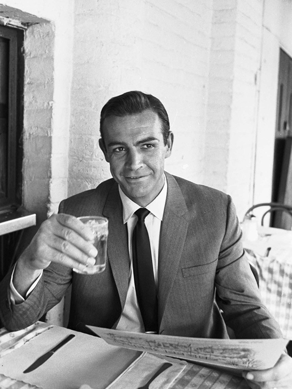 """Cheers, George!""  Sean Connery"