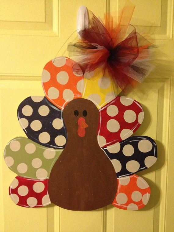 *Could Be Easily Created At A Fraction Of The Cost. You Could Use Foam Core  (or Wood) And And Paint.   Turkey Door Hanger On With Shoes