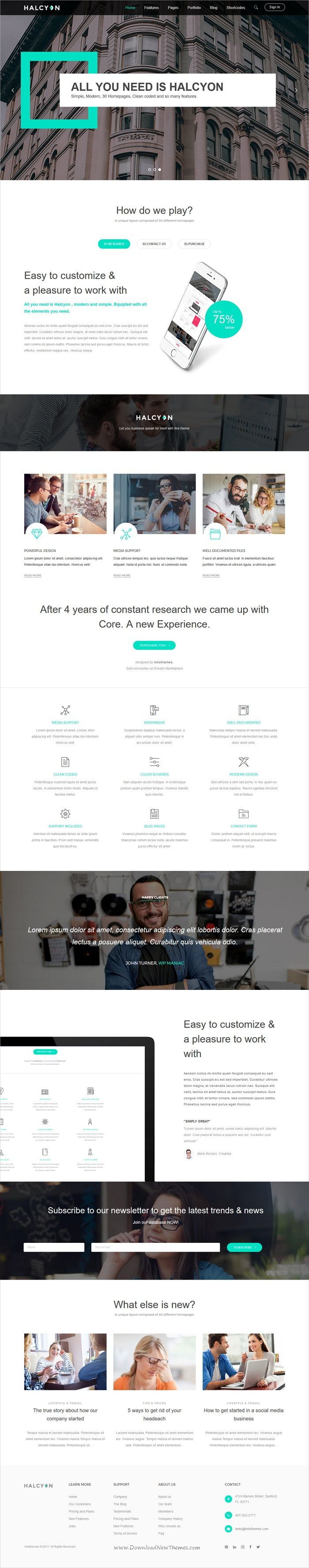 Halcyon is modern and professional design responsive #HTML bootstrap #template for stunning #corporate websites with 30+ multipurpose niche homepage layouts download now➩ https://themeforest.net/item/halcyon-multipurpose-modern-website-html5-css3-template/19383300?ref=Datasata
