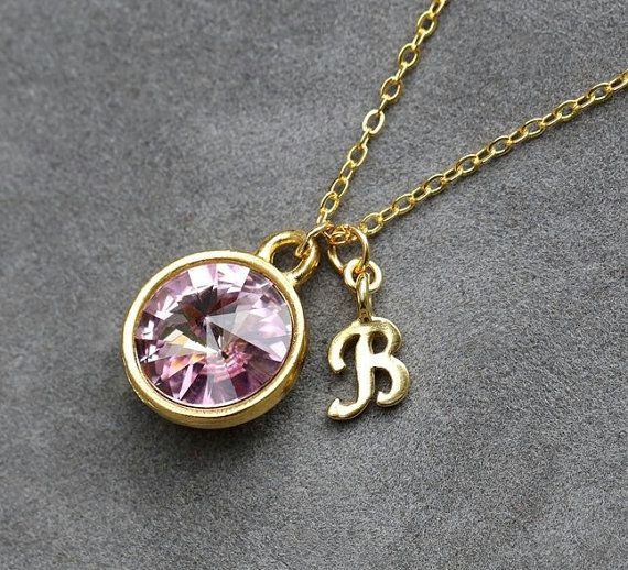51 best initials and birthstones images on pinterest birthstone initial birthstone jewelry june alexandrite necklace new mother bridesmaids gold letter jewelry initial necklace aloadofball