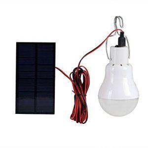 Generic LED à énergie solaire lumière spot ampoule LED Portable Lampe solaire avec panneau solaire 0,8W pour éclairage extérieur randonnée…