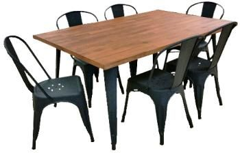 Industrial 7 pce Dining Suite