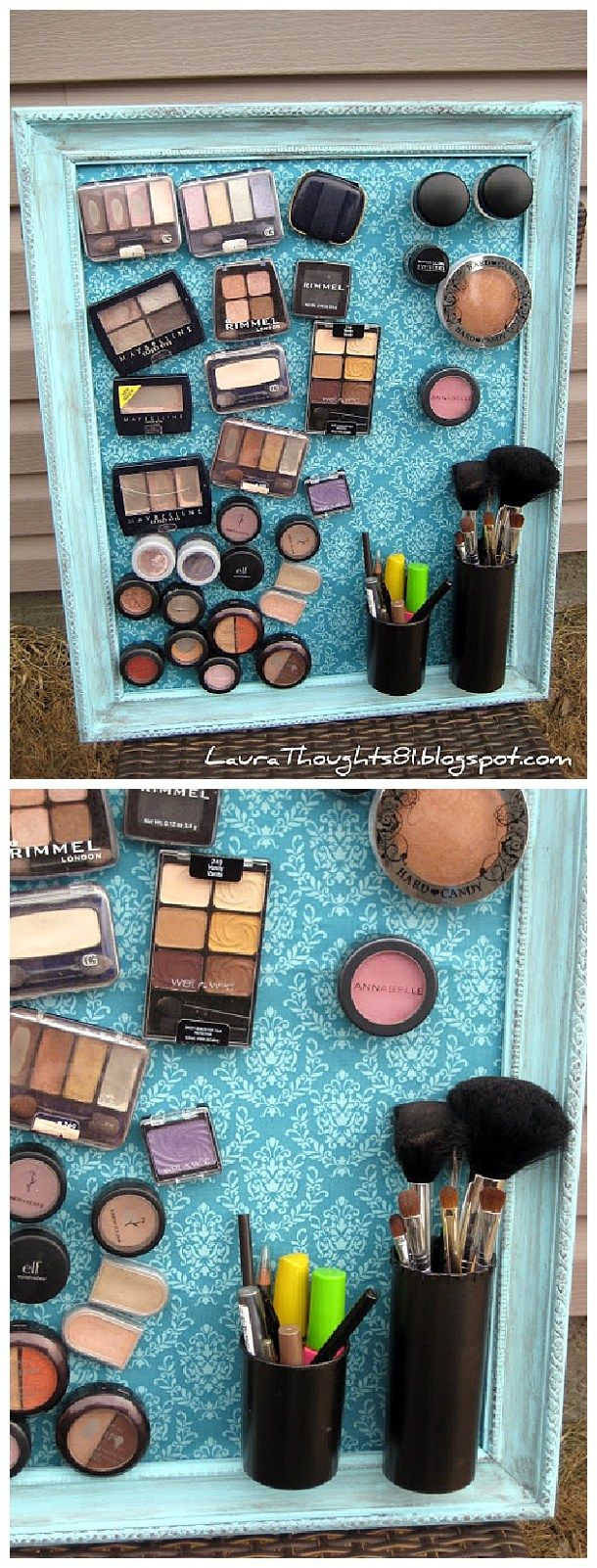 17 best ideas about magnetic makeup holder on pinterest for Cheap space saving ideas