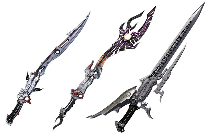 Lightning's Blazefire Saber, Omega Weapon, & Overture from