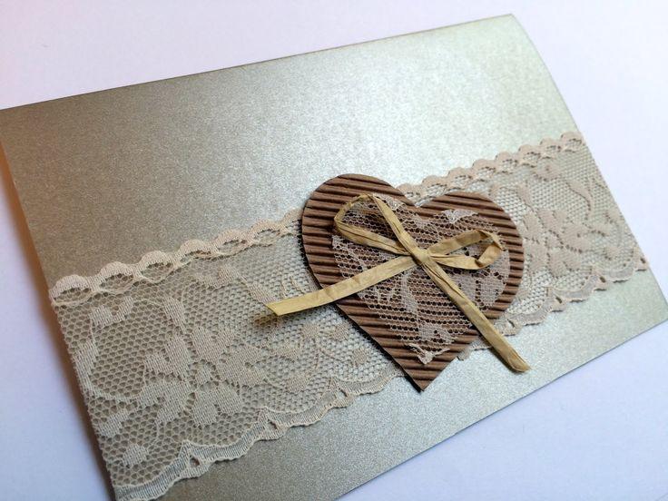 Invito matrimonio rustico