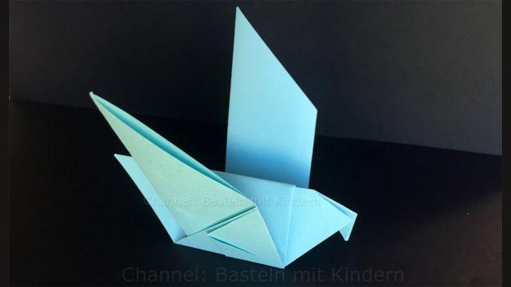 Origami Duif - Hoe vouw je een duif - Knutselen met Papier - Vogel vouwen