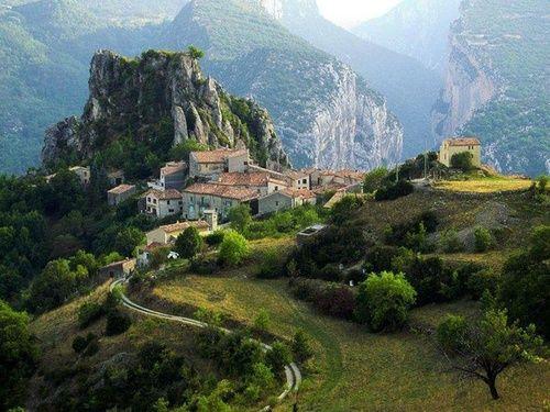 Mountain Village, Rougon, France  photo via debra