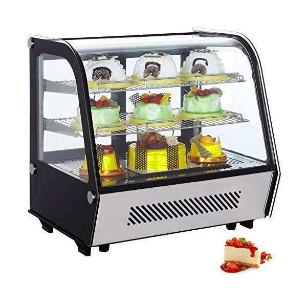 Vbenlem 4 25 Cu Ft Commercial Countertop Refrigerator Silver 120l