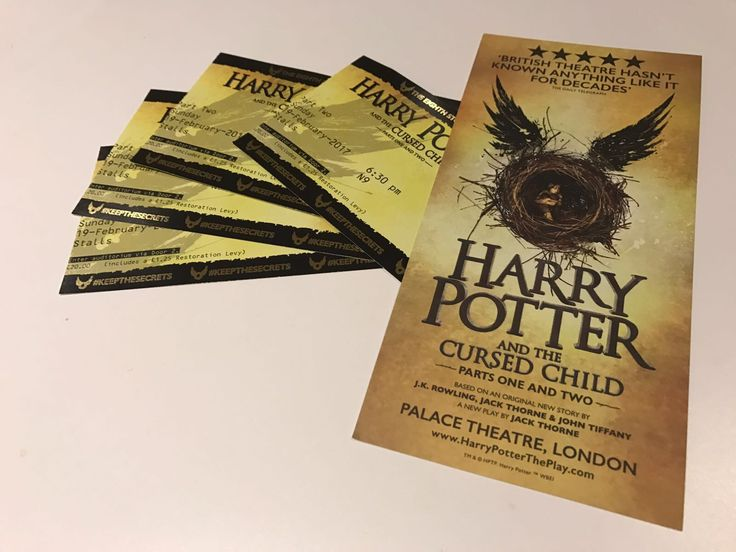 Harry Potter and the Cursed Child: How to Get Tickets for the Immediate Future