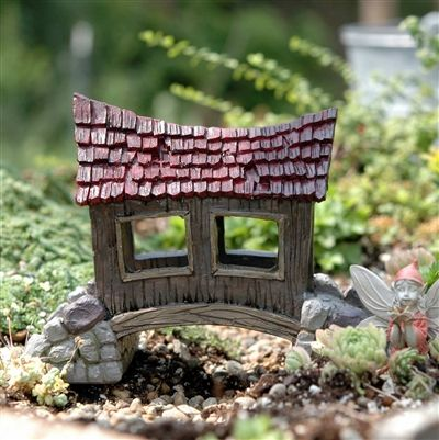 The Miniature Covered Bridge would be great in a fairy garden or a railroad garden.  $20.00