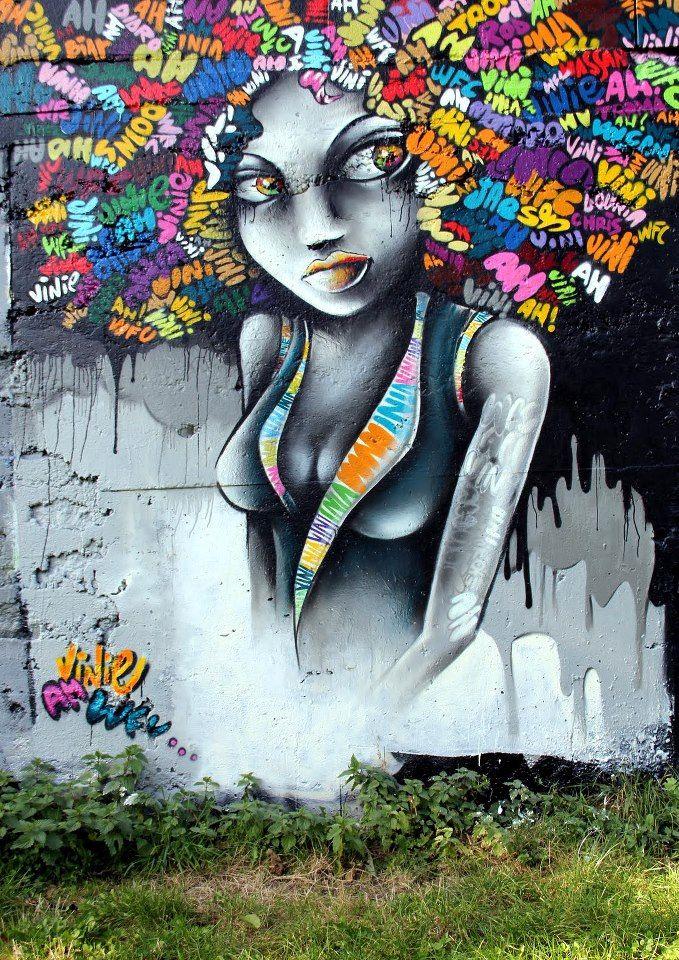 Vinie (Vinie Graffiti) from Montreuil-sous-Bois, near Paris, France. See her work at: www.viniegraffiti.com.