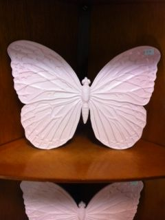 ceramic butterfly wall plaque