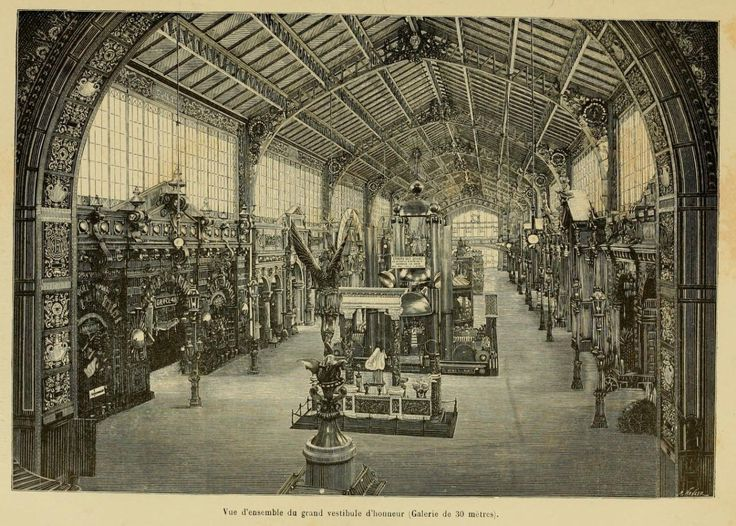 inside the galerie des 30 m tres at the 1889 exposition