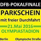 #Ticket  DFB-POKAL FINALE2016 BERLIN  BVB Dortmund  Bayern München # VIP PARKSCHEIN P04 #Ostereich