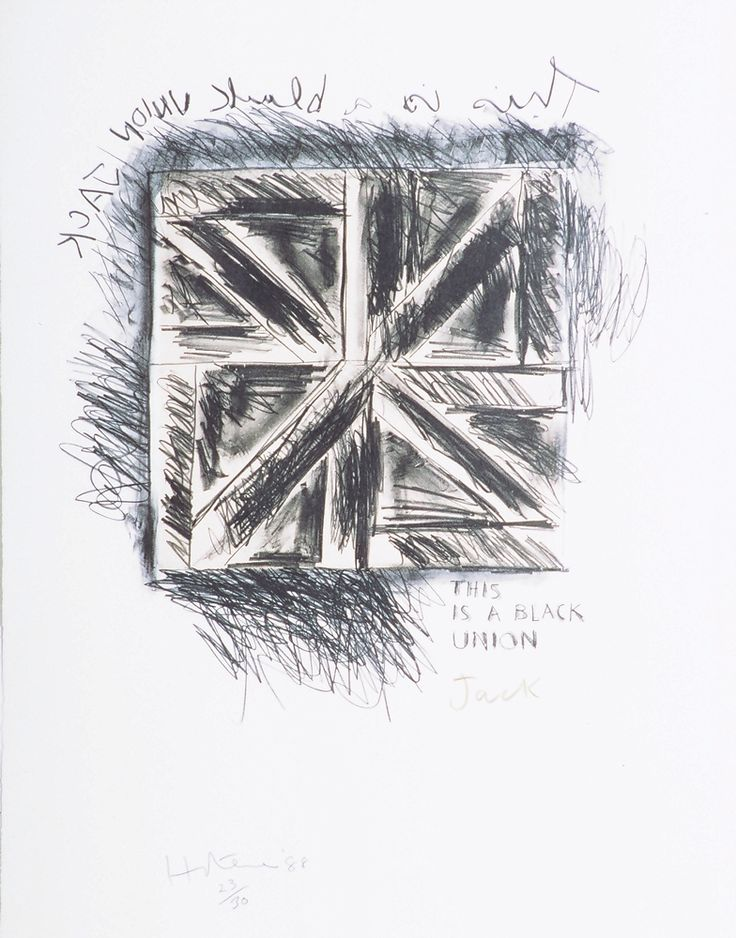 """Art Collection > """"This is a Black Union Jack"""""""