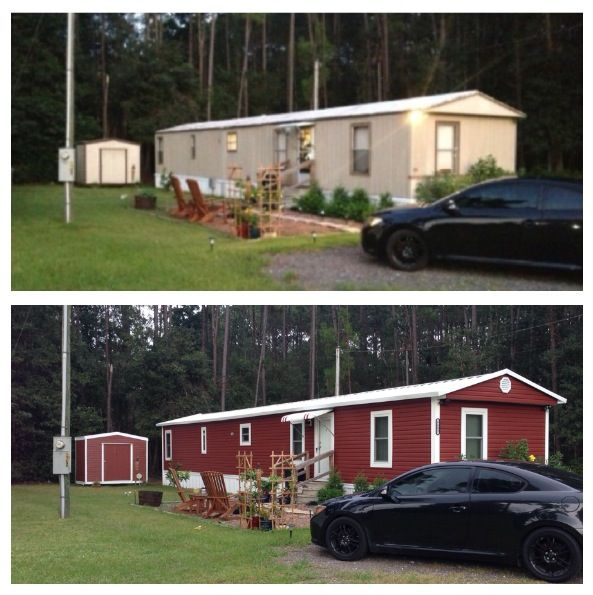 I like the barn red trimmed in white i wonder if black for Build your own mobile home online