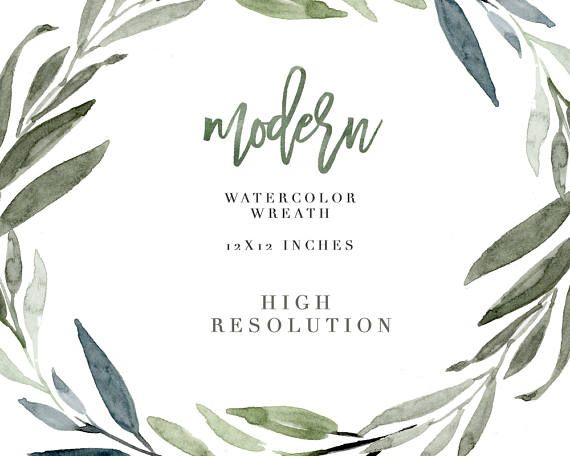 Watercolor Wreath Clipart, Modern Leaf Wreath, Olive Leaves Wreath, Floral Wreath, Tropical Wedding Invitation, Greenery Frame Background, Romantic, elegant, fall, autumn, winter wedding invitations, DIY stationery Hi! Welcome to Essem Creatives! This is a hand painted Watercolor
