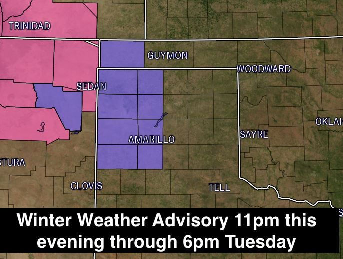 Winter Weather Advisory - Western Texas Panhandle has been published at http://texasstormchasers.com/?p=43133. #txwx