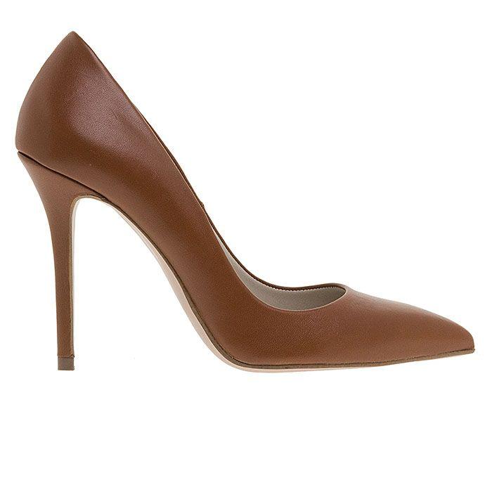 100400-COGNAC LEATHER www.mourtzi.com #pumps #heels #greekdesigners #mourtzi