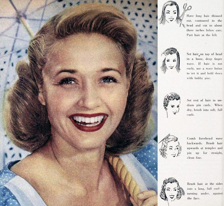 #easyhairstyles | 1950 hairstyle, 1950s hairstyles for ...