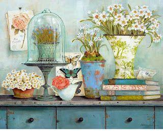 .: Ahşap Boyama Dekupaj Resimleri (çiçek desenli)