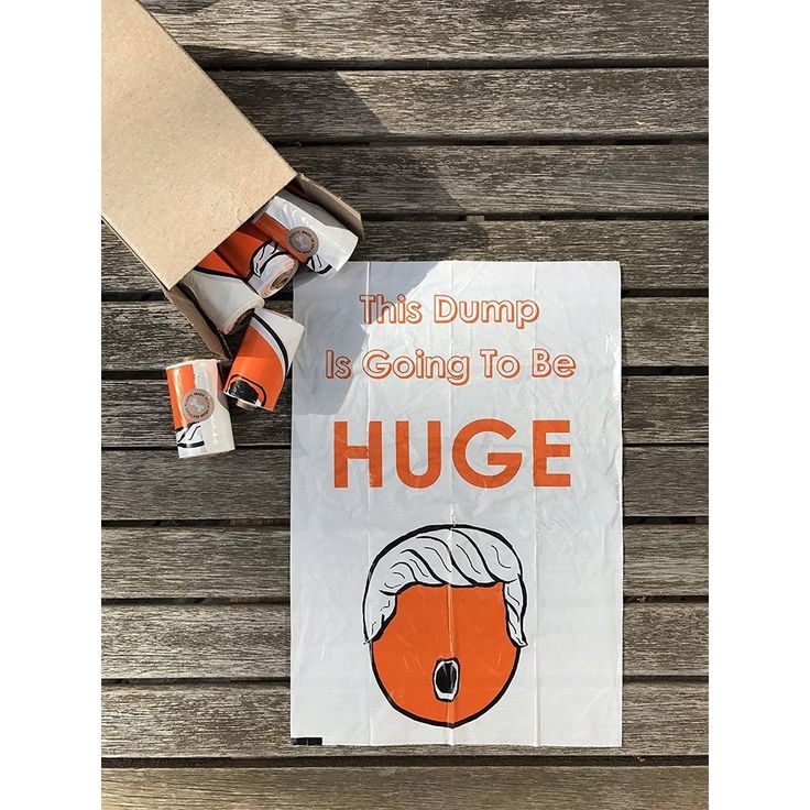 Now available on our store: Huge Dump Trump, ...  Check it out here! http://homeresourcesusa.com/products/huge-dump-trump-custom-dog-waste-bags-15ct-collar-rolls-donald-trump-theme?utm_campaign=social_autopilot&utm_source=pin&utm_medium=pin
