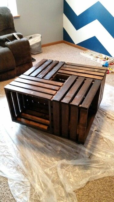 20 best ideas about homemade coffee tables on pinterest for Coffee table made out of wooden crates