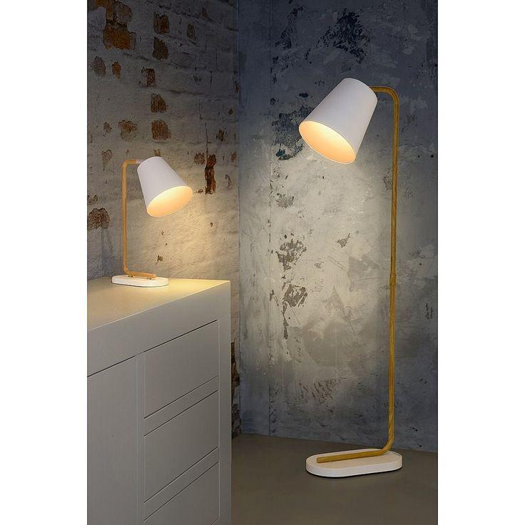 Lucide Cona Vloerlamp Wit - Ø 24 cm