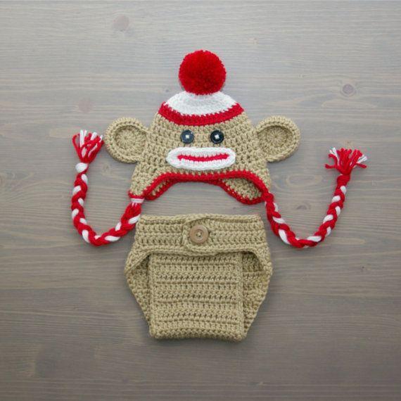 Crochet Sock Monkey Costume Crochet Sock Monkey Set by jackcosmo