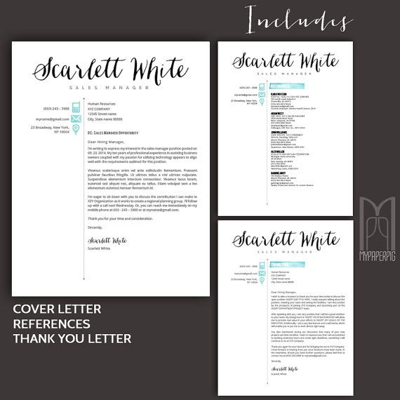 Resume Template and Cover Letter Template Creative by MYPAPERPIG