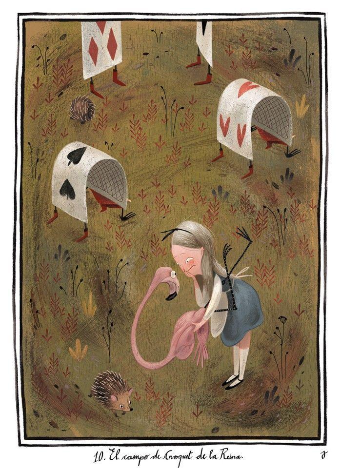 çizgili masallar: Alice in Wonderland by Júlia Sardà | Fairytales
