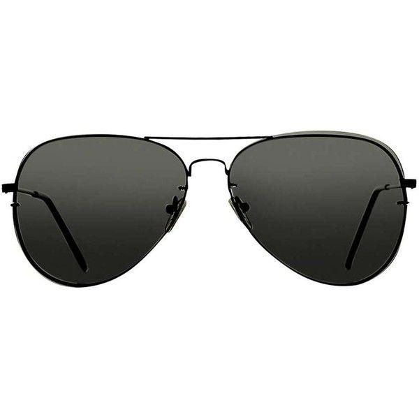 Aviator Sunglasses (45 BAM) ❤ liked on Polyvore featuring accessories, eyewear, sunglasses, aviator sunglasses and aviator style sunglasses