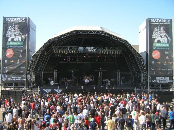 Sonorización grande Viña Rock, equipos de sonido Triple Onda. Sonorización profesional. De alta calidad.